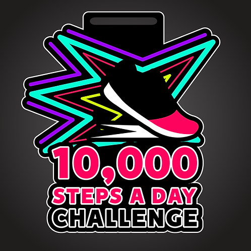 10,000 steps a day monthly challenge