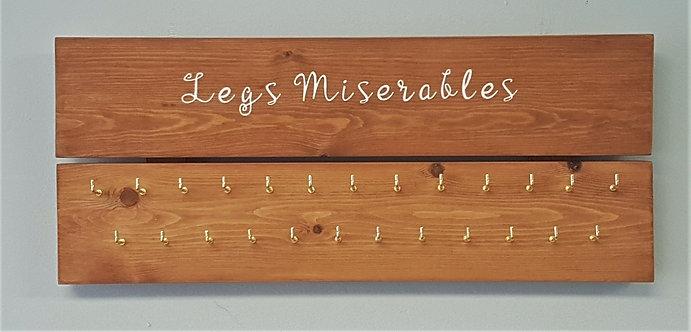 'Legs Miserables' medal hanger