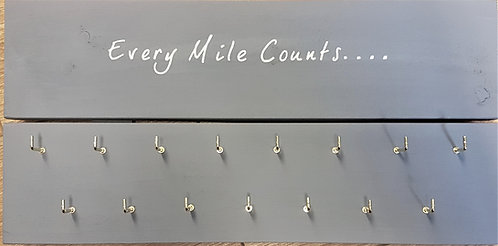 'Every Mile Counts' Medal Hanger