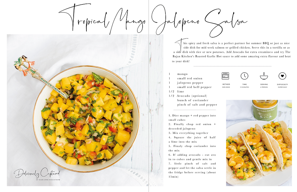 Tropical Mango Jalopeno Salsa - Marianne Haggstrom, from Deliciously Captured, Food Photographer London, Food stylist, London