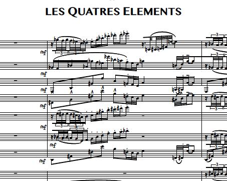 2. Les Quatre Éléments (Flûte 1)