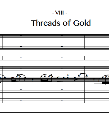 8. Threads of Gold (Flute 2)
