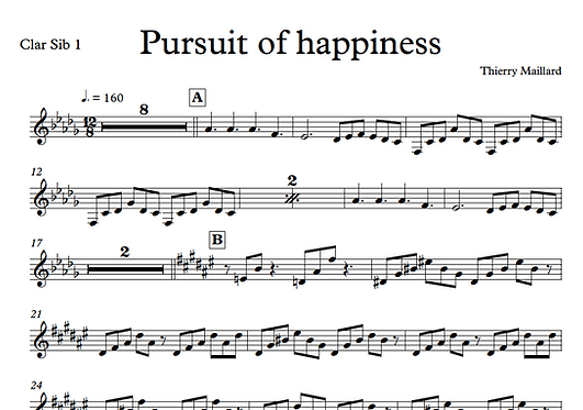 Pursuit of Happiness - Part Clarinette Sib