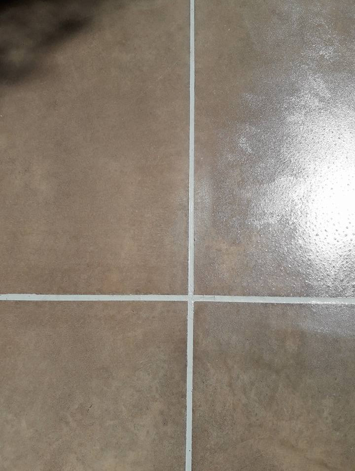After grout repair