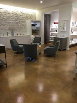 Acid stain Salon lounge