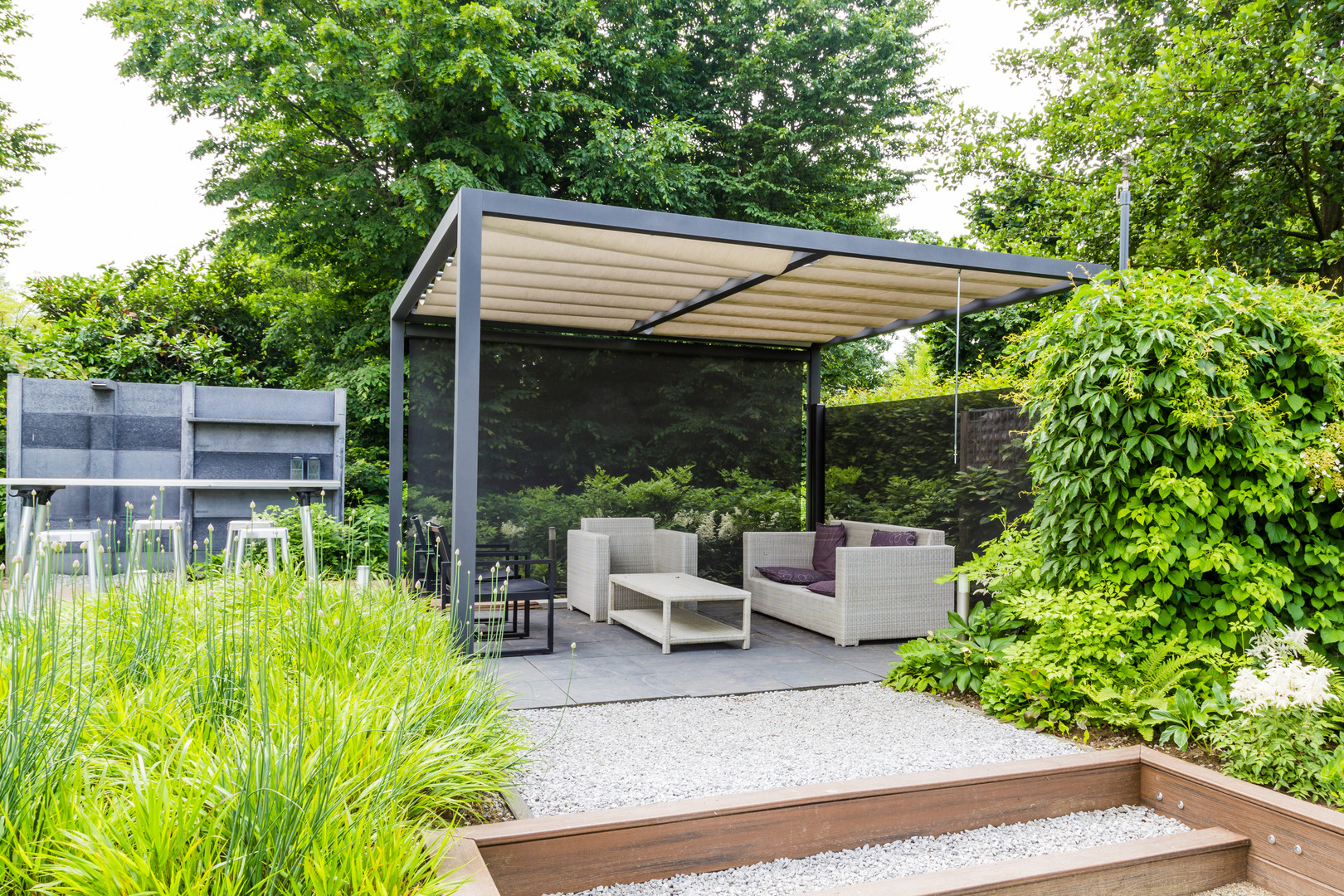 Outdoor shaded area