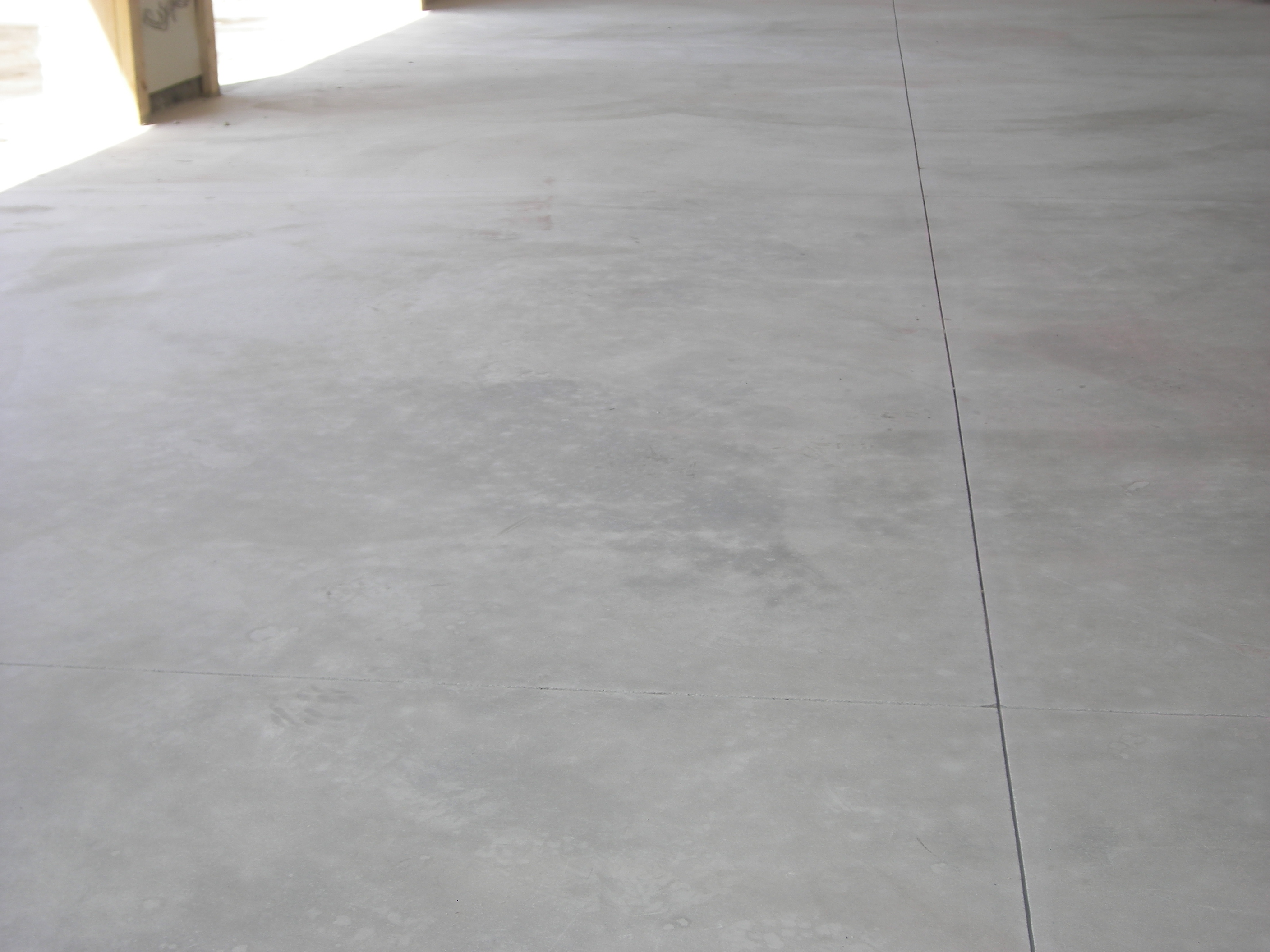 Trowelled concrete