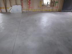 Power float concrete finish