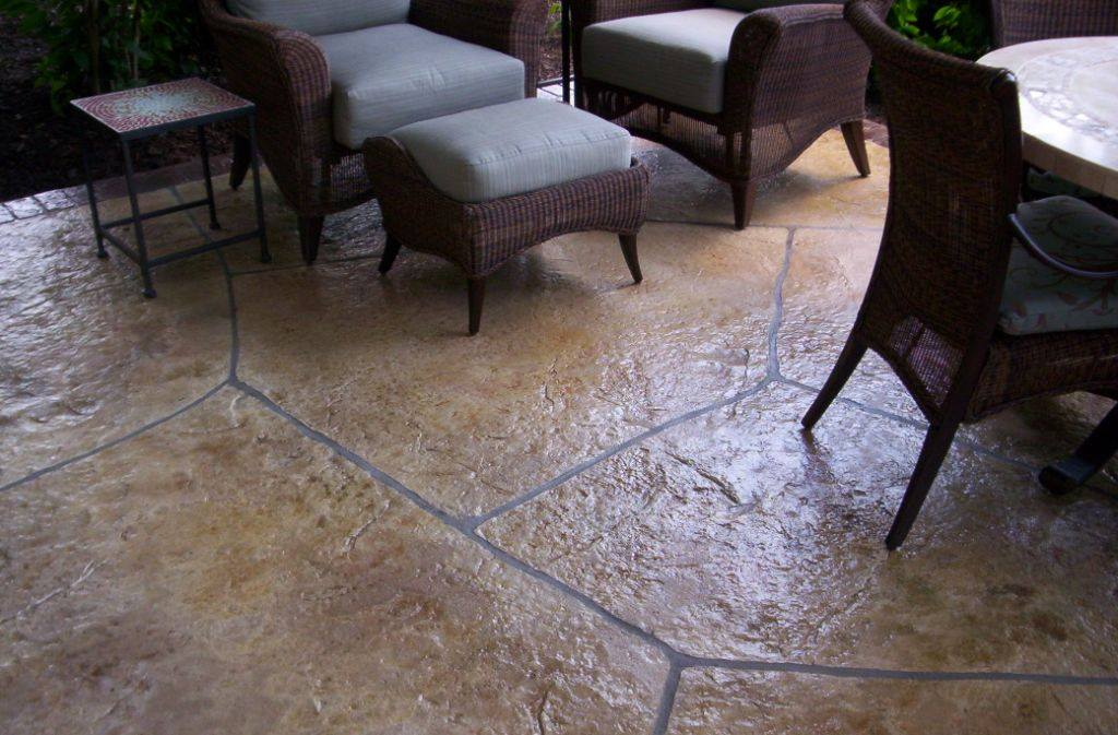 Overlay stamped Flagstone
