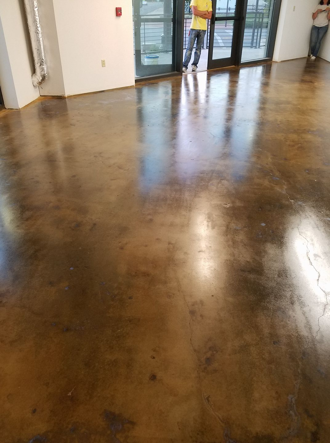 Acid Stain Raw concrete