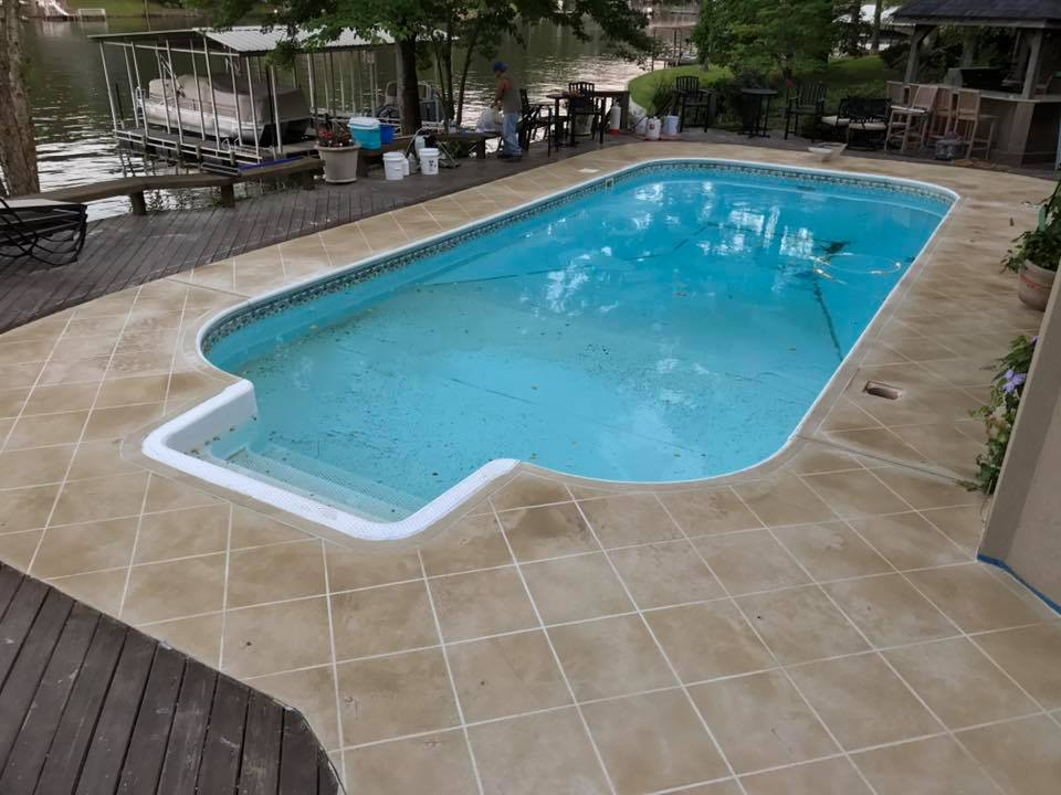 Overlay Swimming Pool Brown