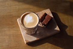 Coffe and Brownie | Farrar's Caffe | Radcliffe Market