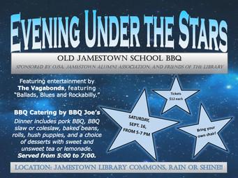 Sept. 16 - Annual Alumni BBQ - Evening Under the Stars
