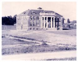 School Building & Farm Landscape