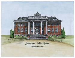 Jamestown Public School Watercolor