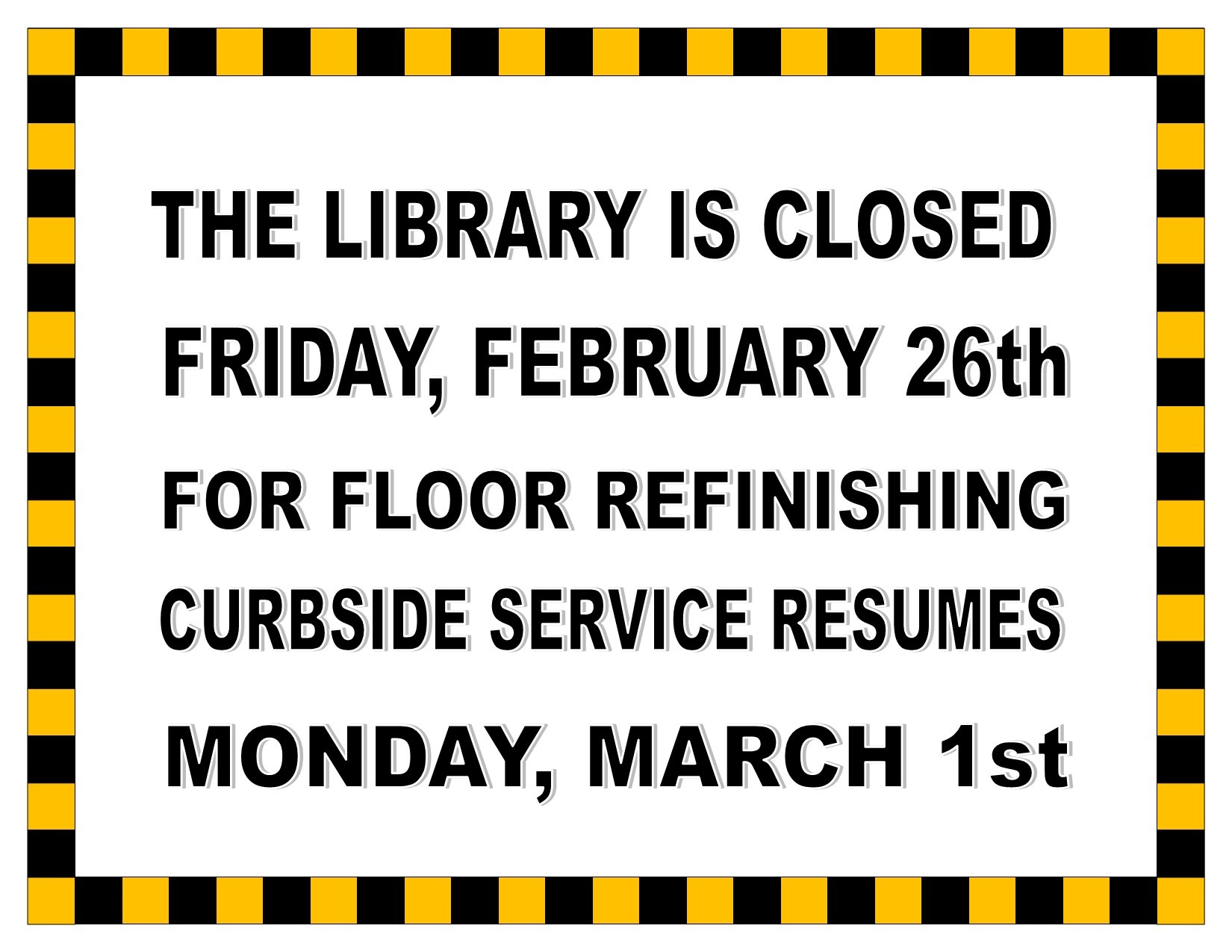 Closed Due to Building Maintenance