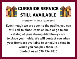 curbside pickup still available