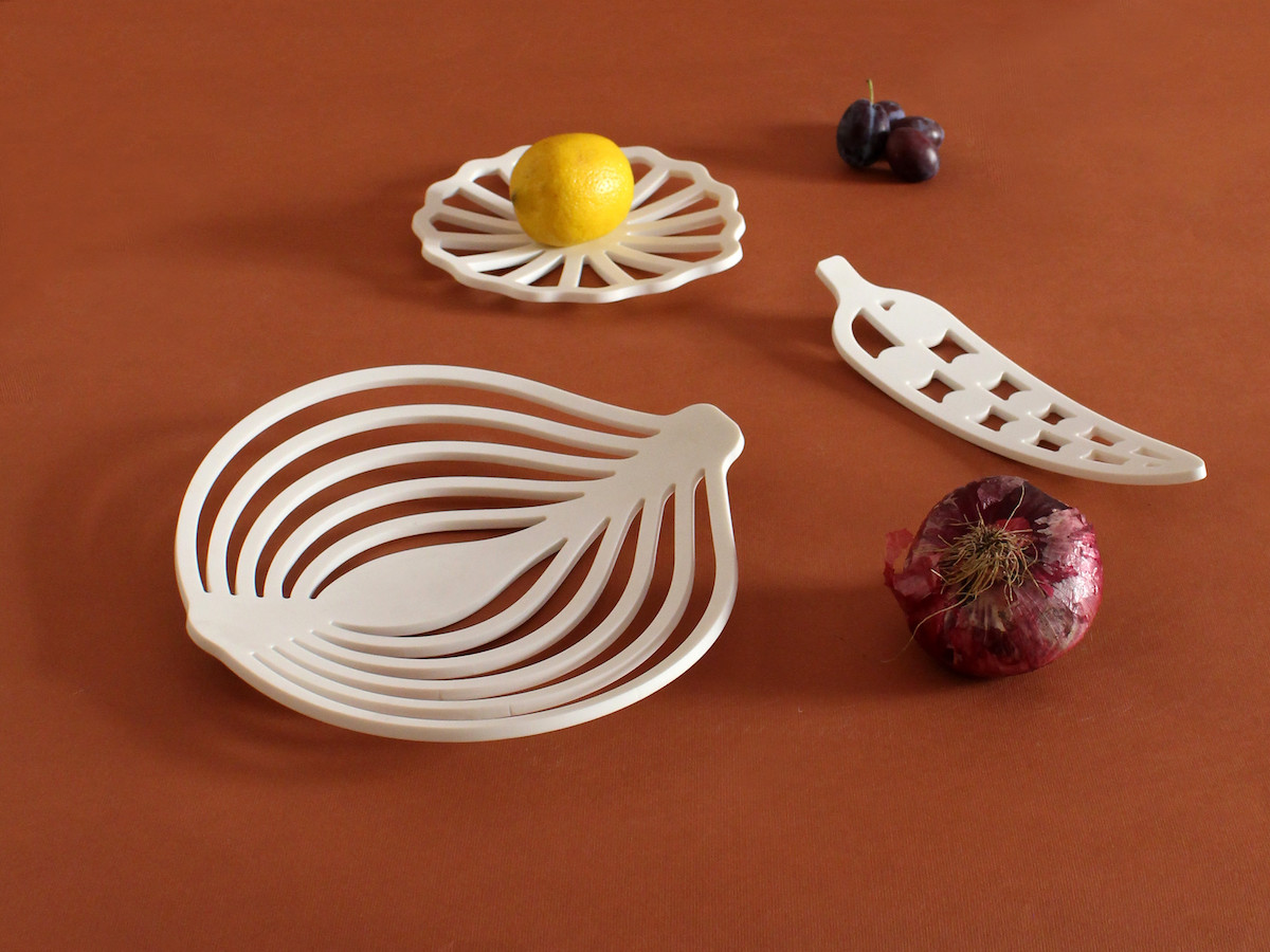 Medì - Trays collection made in Corian