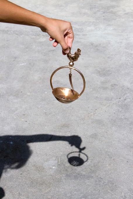 Affascino, casted bronze brazier
