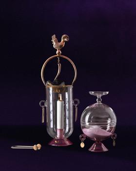 Affascino collection in casted bronze and borosilicate glass. Ph. Alfredo Muscatello