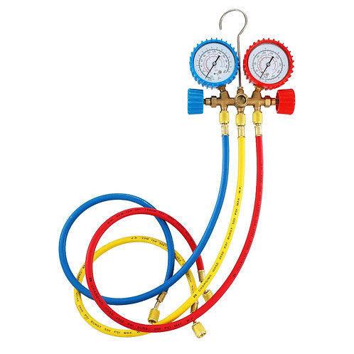 Walmeck Refrigerant Manifold Gauge Set Air Conditioning Tools With Hose And Hook