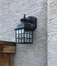 Exterior light fixture replacement