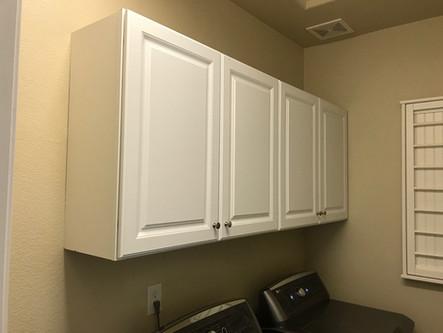 Laundry room cabinet install