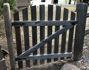 Fence post replacement and gate reinstall