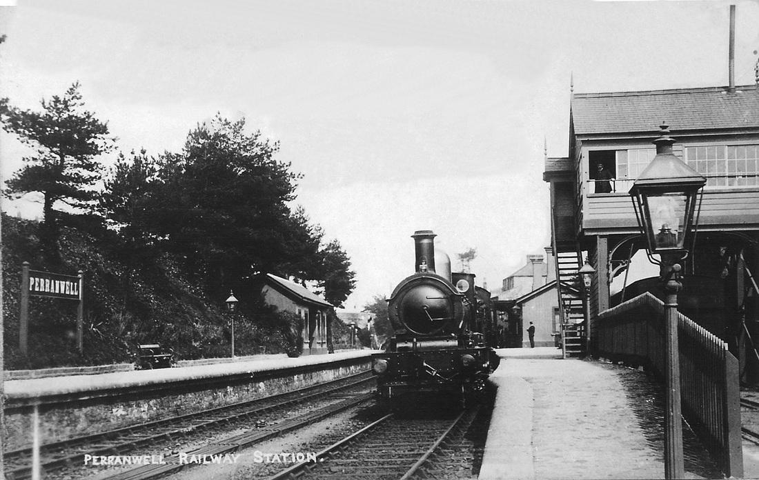 Railway station c 1920s