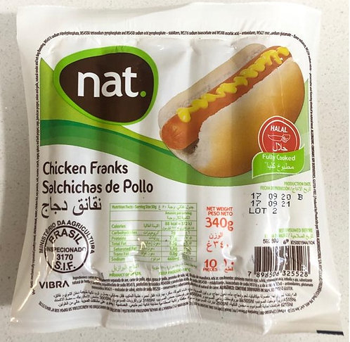 巴西無激素雞肉腸/340g