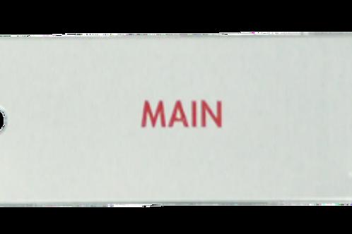 """Nameplate, """"Main"""""""