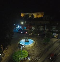 2015年制作「水輪」2017年ベルパッソ市役所前広場に設置