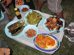 Dinner by Bike Borneo guides