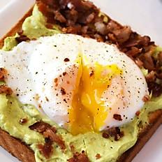 Avocado Toast Egg Bacon
