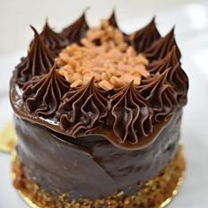 Minibolo Chocolate Amargo com Caramelo Salé