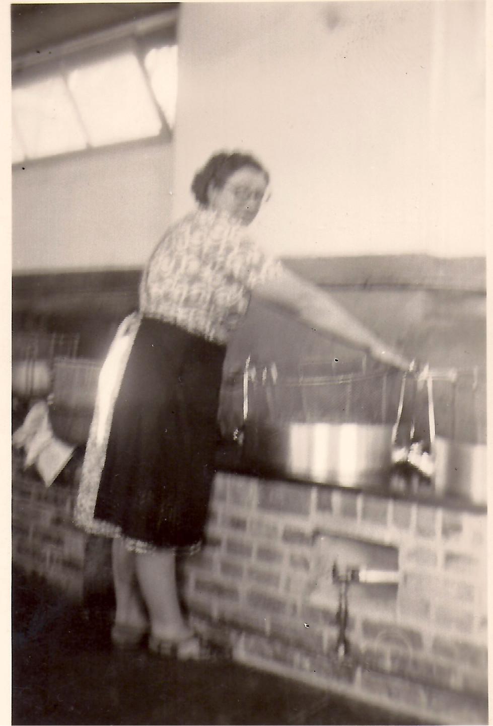 Suzanne Loyson aan frietketel -Odette VH