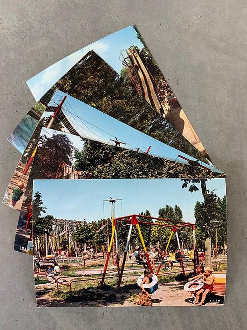 5 authentieke postkaarten