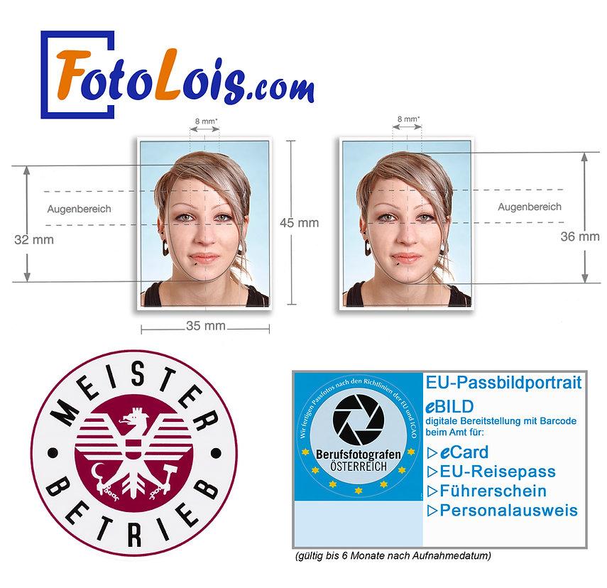 Passbild-Paket Web-Vorlage