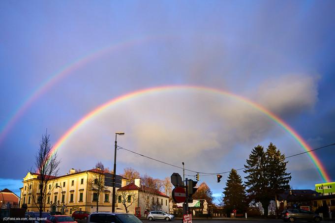 Doppelregenbogen über Wieselburg