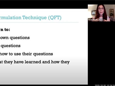 Teaching Questioning as an Essential Skill for Navigating Change (by Sarah Westbrook & Katy Connolly (RQI)) (2 of 2)