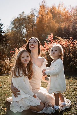wedding bride with her two flower girls