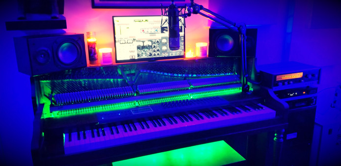 The Lake Country Mixing Studio Piano.  We like colours.