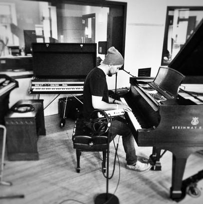Jordan playing around on a decent piano @ Bottega Studios in Kelowna.