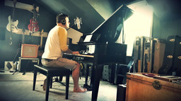 Recording Marc Martel at his home studio in Nashville.