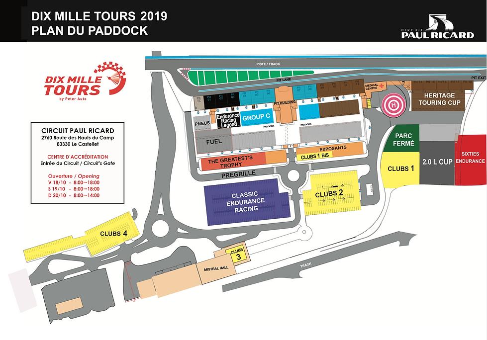 Plan des paddocks Dix Mille Tours Du Cas