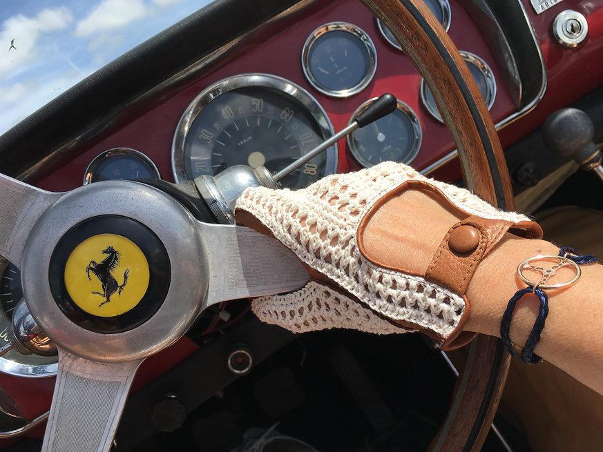 gant de conduite cuir crochet pour femme