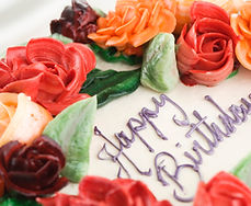 Wide selection of birthday cakes