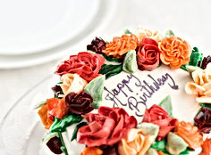 Floral Wreath Birthday Cake