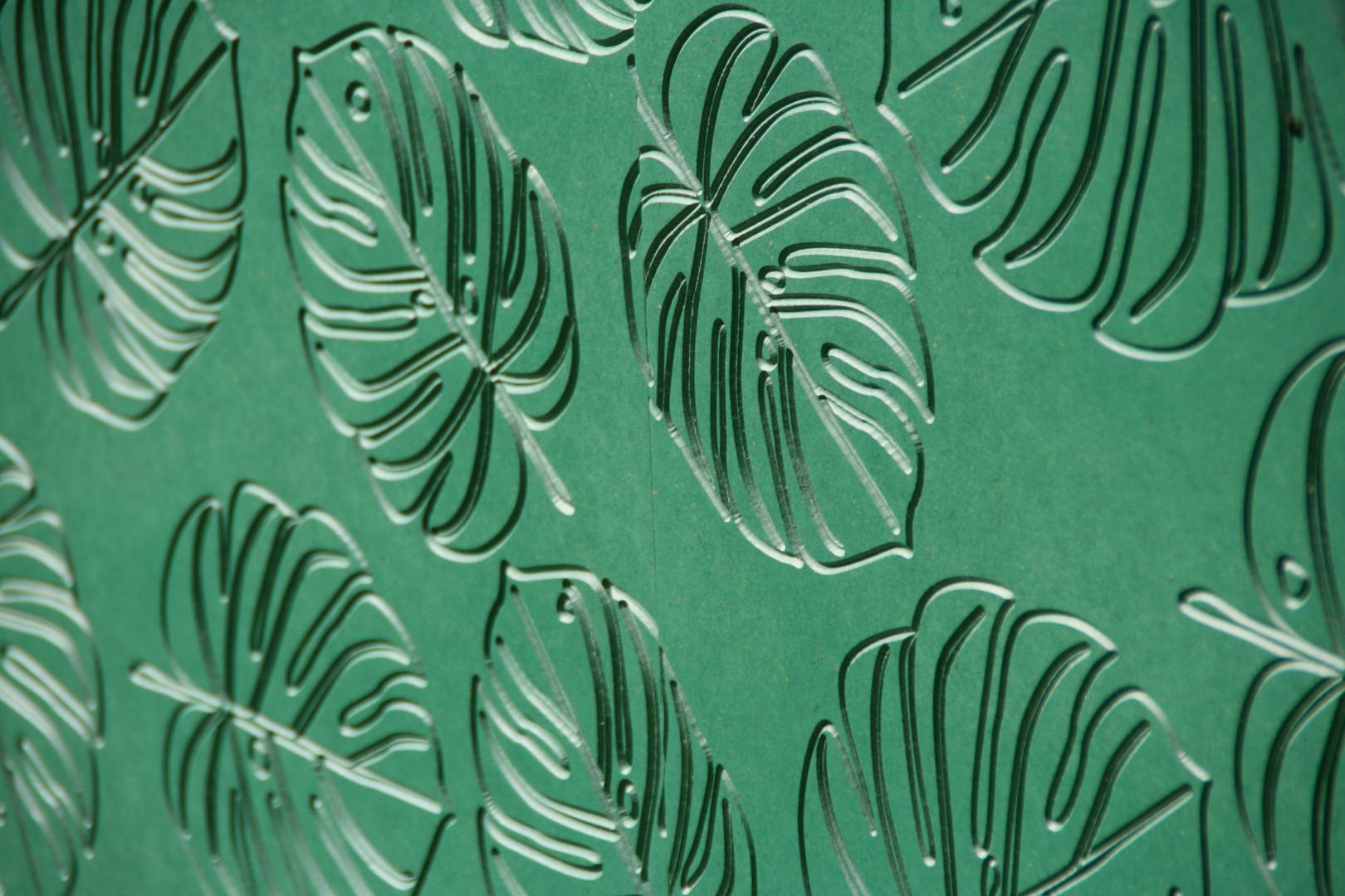 Portes valchromat vert avec motif