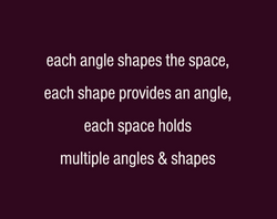 #shapes #space #opinions #dialogue